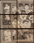 """Baseball Cards:Lots, 1935 Goudey 4-In-1 Baseball Collection (12) - Complete """"Picture 9""""Washington Senators Team. ..."""