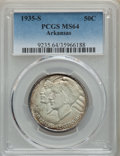 Commemorative Silver, 1935 PDS S SET Arkansas MS64 PCGS. CDN: $305 Whsle. Bid for problem-free NG... (Total: 3 item)