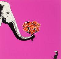 Outis (20th century) Love Hurts (Pink), 2014 Screenprint in colors on wove paper 21-1/2 x 21-1/2