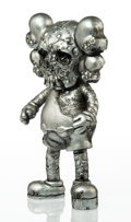 Collectible:Contemporary, KAWS X Pushead. Companion (Silver), 2005. Painted cast vinyl. 10-3/4 x 5-1/2 x 2-1/2 inches (27.3 x 14 x 6.4 cm). Stampe...