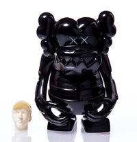 KAWS X Bounty Hunter Skull Kun (Black), 2006 Painted cast vinyl 6-1/2 x 5-1/4 x 3-1/4 inches (16