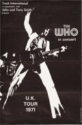 Music Memorabilia:Posters, The Who UK 1971 Tour Poster (Track International)....