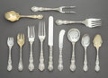 Silver & Vertu:Gorham, A One Hundred Twenty-Two-Piece Gorham Mfg. Co. Imperial Chrysanthemum Pattern Silver Flatware Service, Providenc... (Total: 122 Items)
