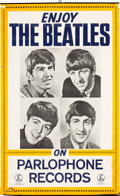 Music Memorabilia:Posters, Beatles Enjoy the Beatles! Parlophone Records Promo Poster(mid-1960s)....