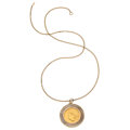Estate Jewelry:Pendants and Lockets, U.S. Gold Coin, Gold Pendant-Necklace. ...