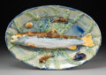 An Alfred Renoleau Palissy Ware Platter for Renoleau, Goras & Cie, Angoulême, France, circa 1895 Marks: (two t...