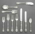 Silver Flatware, American:Dominick & Haff, A One Hundred Two-Piece Durgin Iris Pattern Silver FlatwareService, Concord, New Hampshire, designed 1900. Mark... (Total: 102Items)