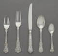 Silver Flatware, American:Wallace , A Sixty-Piece R. Wallace & Sons Mfg. Co. Queens PatternSilver Flatware Service, Wallingford, Connecticut, desig... (Total:60 Items)