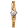 Estate Jewelry:Watches, Omega Lady's Diamond, Gold Watch . ...