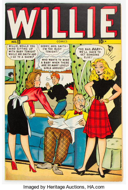 Willie Comics #13 (Timely, 1948) Condition: FN/VF....