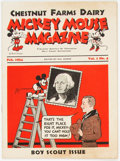 Platinum Age (1897-1937):Miscellaneous, Mickey Mouse Magazine Dairy Giveaway V1#4 (Walt Disney Productions,1934) Condition: FN....
