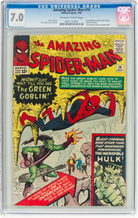 The Amazing Spider-Man #14 (Marvel, 1964) CGC FN/VF 7.0 Off-white to white pages