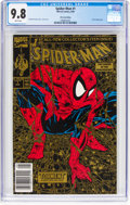 Modern Age (1980-Present):Superhero, Spider-Man #1 Gold Edition 2nd Printing w UPC code (Marvel, 1990) CGC NM/MT 9.8 White pages....