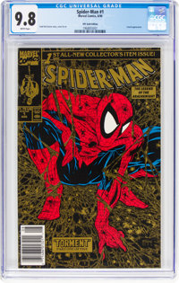 Spider-Man #1 Gold Edition 2nd Printing w UPC code (Marvel, 1990) CGC NM/MT 9.8 White pages