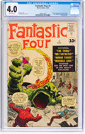 Silver Age (1956-1969):Superhero, Fantastic Four #1 (Marvel, 1961) CGC VG 4.0 Off-white pages....