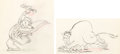 Animation Art:Production Drawing, Mickey's Rival Mortimer Mouse and Bull Animation DrawingsGroup of 2 (Walt Disney, 1936).... (Total: 2 Items)