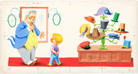Richard Scarry Little Benny Wanted a Pony Illustration Pages 10 and 11 Original Art (Simon and Schuster, 1950)