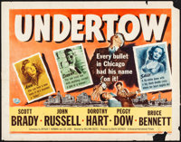 """Undertow (Universal International, 1949) Rolled, Fine. Half Sheets (2) (22"""" X 28"""") Styles A and B. Crime.... (..."""