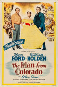 """Movie Posters:Western, The Man from Colorado (Columbia, 1948) Folded, Very Fine-. One Sheet (27"""" X 41""""). Western...."""