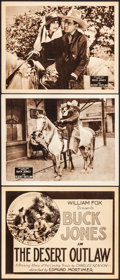 """Movie Posters:Western, The Desert Outlaw (William Fox, 1924) Very Fine. Title Lobby Card & Lobby Cards (2) (11"""" X 14""""). Western.... (Total: 3 Items)"""
