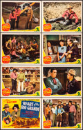 """Movie Posters:Western, Heart of the Rio Grande (Republic, 1942) Very Fine/Near Mint. Lobby Card Set of 8 (11"""" X 14""""). Western.... (Total: 8 Items)"""