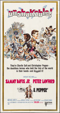 "Movie Posters:Comedy, Salt and Pepper (United Artists, 1968) Folded, Fine/Very Fine. Three Sheet (41"" X 77""). Jack Davis Artwork. Comedy...."