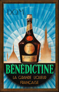 """Movie Posters:Miscellaneous, Bénédictine (c. 1950s) Very Fine- on Linen. French Advertising Poster (25"""" X 38.5""""). Miscellaneous...."""