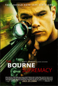 "Movie Posters:Action, The Bourne Supremacy (Universal, 2004) Rolled, Very Fine-. One Sheet (27"" X 40"") DS Advance. Action...."