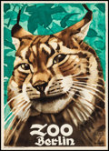 """Movie Posters:Miscellaneous, Berlin Zoo (c. 1930s) Very Fine+ on Linen. German Advertising Poster (17"""" X 23.5"""") Ludwig Hohlwein Artwork. Miscellaneous...."""