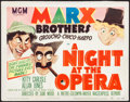 "Movie Posters:Comedy, A Night at the Opera (MGM, R-1948) Fine-. Title Lobby Card (11"" X14""). Al Hirschfeld Artwork. Comedy...."