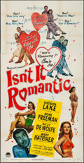 "Movie Posters:Comedy, Isn't It Romantic (Paramount, 1948) Folded, Fine/Very Fine. Three Sheet (41"" X 79""). Comedy...."