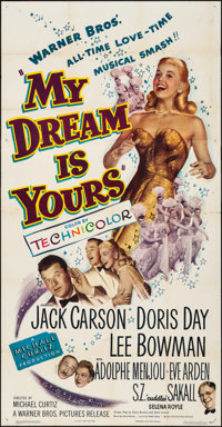 "My Dream Is Yours (Warner Brothers, 1949) Folded, Very Fine-. Three Sheet (41"" X 79""). Musical"