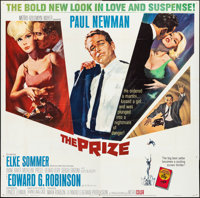"The Prize (MGM, 1963) Folded, Fine/Very Fine. Six Sheet (80"" X 79""). Howard Terpning Artwork. Thriller"