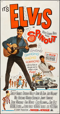 "Spinout (MGM, 1966) Folded, Very Fine-. Three Sheet (41"" X 79""). Elvis Presley"