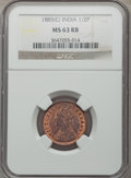 India:British India, India: British India. Victoria 16-Piece Certified Date Set of 1/2 Pice NGC, ... (Total: 16 coins)