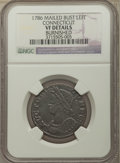 1786 CONNCT Connecticut Copper, Mailed Bust Left -- Burnished -- NGC Details. VF. NGC Census: (5/44). PCGS Population: (...