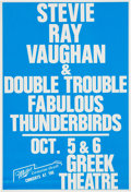 Music Memorabilia:Posters, Stevie Ray Vaughan Greek Theatre Concert Poster (1988). VeryRare....