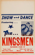 Music Memorabilia:Posters, The Kingsmen Concert Poster (Circa mid-1960s)....
