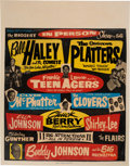 Music Memorabilia:Posters, Bill Haley/Chuck Berry The Biggest Show of 56 Concert Poster (SuperAttractions, 1956). Very Rare....