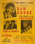 Music Memorabilia:Posters, Sam Cooke/Little Anthony and the Imperials Civic Auditorium ConcertPoster (1959). Very Rare....