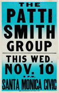 Music Memorabilia:Posters, Patti Smith Group Santa Monica Civic Auditorium Concert Poster (1976)....