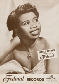 Music Memorabilia:Posters, Little Esther Federal Records Poster (circa early 1950s)....