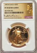 Four-Piece 1990 Gold Eagle Set PR70 Ultra Cameo NGC