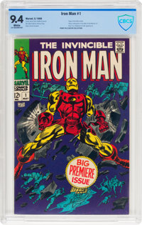 Iron Man #1 (Marvel, 1968) CBCS NM 9.4 White pages