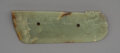 Carvings, A Chinese Carved Jade DragonCeremonial Blade, Qing Dynasty or earlier. 2-3/4 x 8-3/8 x 3/8 inches (7.0 x 21.3 x ...