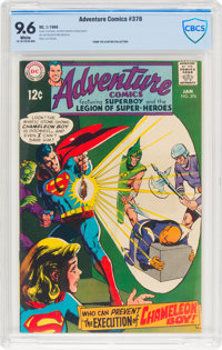 Adventure Comics #376 (DC, 1969) CBCS NM+ 9.6 White pages