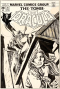 Original Comic Art:Covers, Gil Kane and Tom Palmer Tomb of Dracula #26 Cover OriginalArt (Marvel, 1974)....