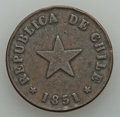 Chile, Chile: Republic Centavo 1851 Fine (deposits), ...
