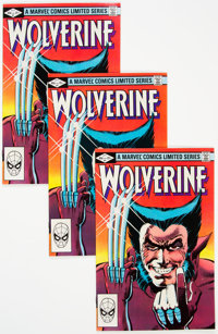 Wolverine Limited Series #1-3 Group of 12 (Marvel, 1982) Condition: Average VF/NM.... (Total: 12 )
