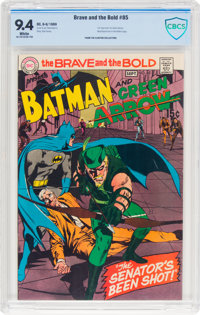 The Brave and the Bold #85 Batman and Green Arrow (DC, 1969) CBCS NM 9.4 White pages
